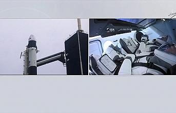 SpaceX'in ilk insanlı uzay mekiği denemesi hava...