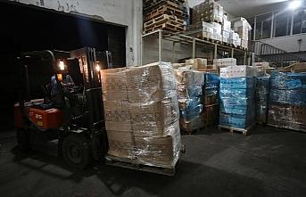 Türkiye'nin gönderdiği tıbbi malzemeler Gazze'ye...