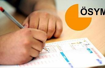 YKS ile MSÜ'ye başvuran adayların sınav merkezi...