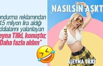 Algida dondurma reklamından 1.5 milyon lira aldığı...