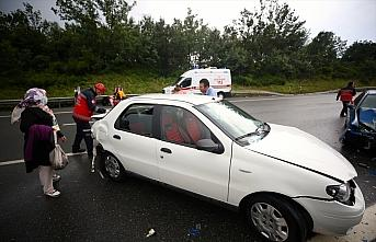 Anadolu Otoyolu'nda zincirleme trafik kazasında 6...