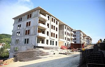 Araklı'daki afetzedeler için yapımına başlanan konutlar yükseliyor