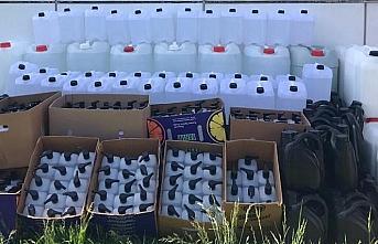 Bolu'da 1100 litre sahte dezenfektan ele geçirildi