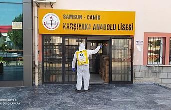 Canik'te okullar LGS öncesi temizlendi