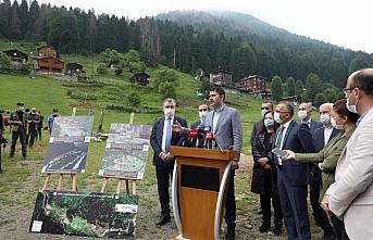 Çevre ve Şehircilik Bakanı Murat Kurum, Ayder Yaylası'nda...