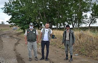 Çorum'da doğa koruma ekipleri ile avcılar