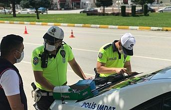 Çorum'da drone destekli trafik denetiminde 113 sürücüye ceza uygulandı
