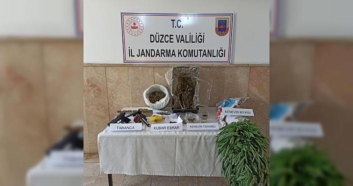 Düzce'de uyuşturucu operasyonunda 2 kişi gözaltına...