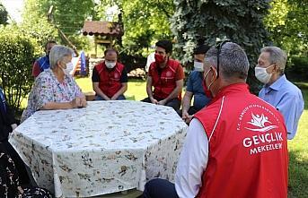 Gençlik Merkezi üyeleri 15 Temmuz şehidinin babasını ziyaret etti