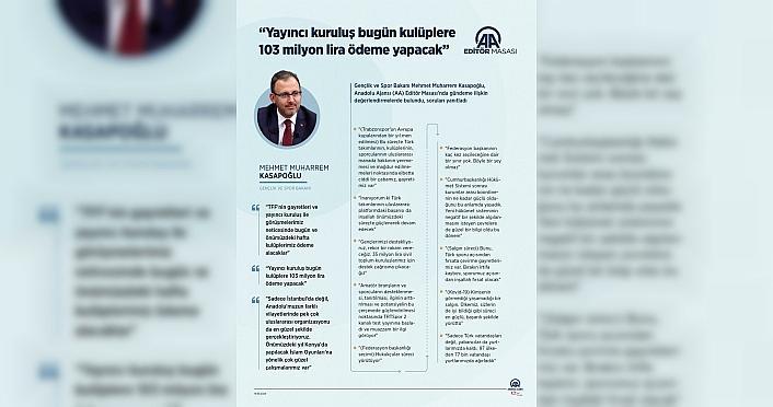 Gençlik ve Spor Bakanı Kasapoğlu, AA Editör Masası'na...