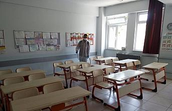 Ordu'da LGS sınavı öncesi okullarda dezenfeksiyon...