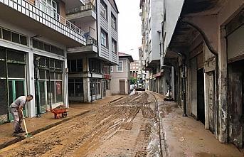 Rize'nin İyidere ilçesinde şiddetli yağış hasara yol açtı