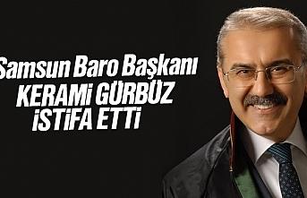 Samsun Baro Başkanı Kerami Gürbüz İstifa Etti