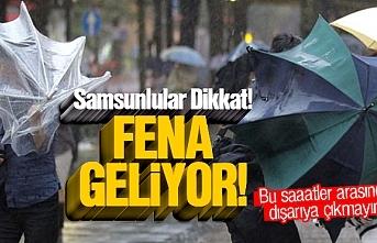 Samsun'a çok kuvvetli sağanak yağış uyarısı