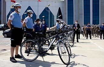 Samsun'da bisikletli polisler
