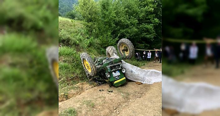 Samsun'da devrilen traktörün sürücüsü öldü,...