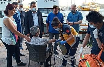 Sinop'ta denize düşen kişiyi Vali Karaömeroğlu ve vatandaşlar kurtardı