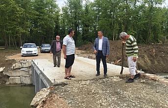 Sinop'ta yapılan köprülü geçiş yolu tamamlandı