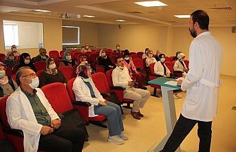 Suluova Devlet Hastanesinde çalışan geçici işçilere...