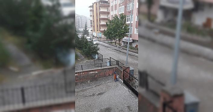 Tokat'ta dolu yağışı