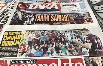 Trabzon yerel basınında Fenerbahçe galibiyetinin...