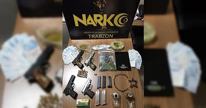 Trabzon'da uyuşturucu operasyonu: 15 gözaltı