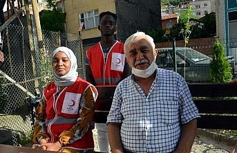 Türk Kızılayın Afrikalı gönüllüleri Amasya'da...