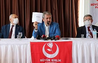BBP Genel Başkanı Destici, Samsun İl Başkanlığı istişare toplantısında konuştu:
