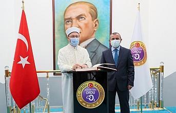 Diyanet İşleri Başkanı Erbaş, Ordu Valisi Sonel'i ziyaret etti