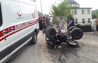 Düzce'de ATV tipi arazi aracı devrildi: 5 yaralı