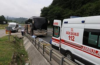 Düzce'de yolcu otobüsünün çarptığı kadın öldü