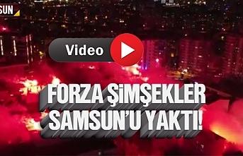 Forza Şimşekler'den Samsunspor'un şampiyonluk kutlaması
