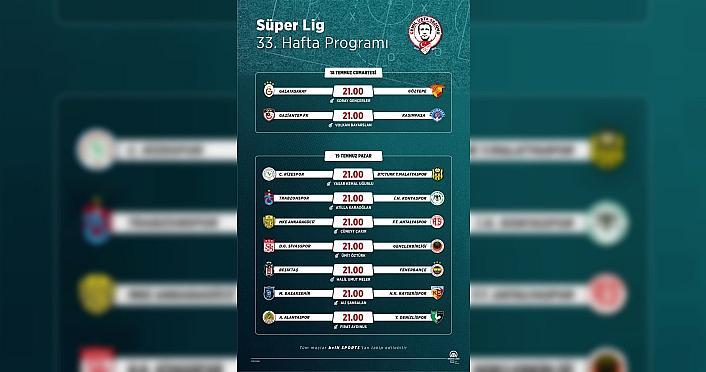 GRAFİKLİ - Süper Lig'de 33. hafta nefes kesecek