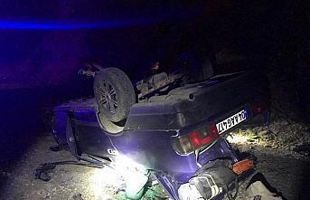 Gümüşhane'de otomobil devrildi: 4 yaralı