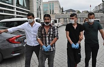 Samsun'da polis memurlarını darbettiği öne...