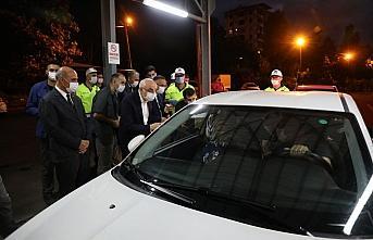 İçişleri Bakan Yardımcısı Erdil, Rize'de trafik denetimine katıldı: