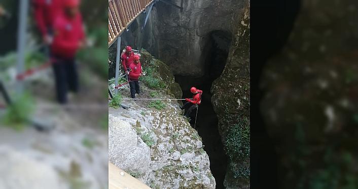 Jandarmadan Kastamonu'daki kanyonda