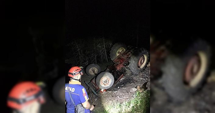 Karabük'te kayıp sürücü devrilen traktörün altında ölü bulundu