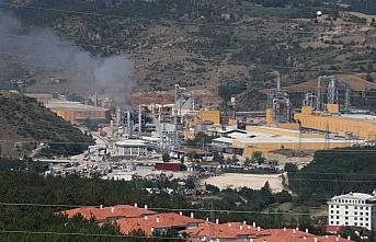 Kastamonu'da ağaç işleri yapılan fabrikadaki yangın...