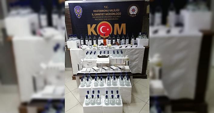 Kastamonu'da içki ve silah kaçakçılığı operasyonunda 3 kişi yakalandı