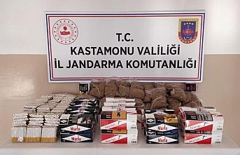 Kastamonu'da kaçak tütün ürünleri satan kişi...