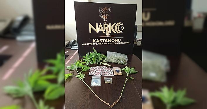 Kastamonu'da uyuşturucu operasyonunda yakalanan kişi tutuklandı
