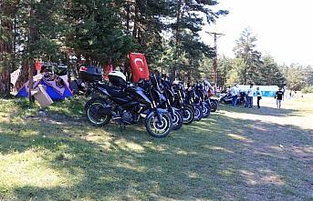 Kastamonu'nun yaylasında 200'den fazla motosikletli...