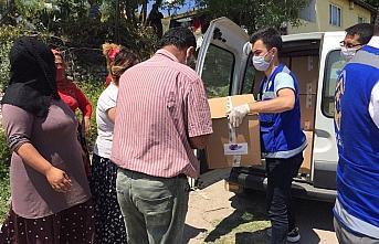 Safranbolu'da karantina altındaki mahallede vatandaşlara gıda yardımı yapıldı