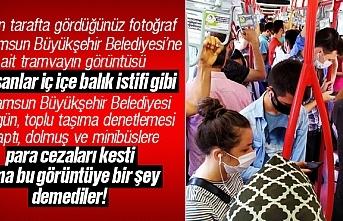 Samsun Büyükşehir Belediyesi, toplu taşıma denetiminde para cezası uyguladı