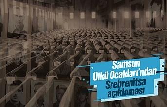 Samsun Ülkü Ocakları Başkanı İbrahim Mert Bahar, Srebrenitsa açıklaması yaptı