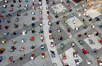 Samsun'da Adnan Menderes Demokrasi Meydanı'nda bayram...