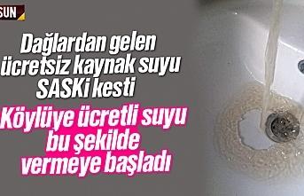 Samsun'da çeşmelerden su yerine çamur akıyor