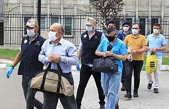 Samsun'da FETÖ'nün yeni yapılanmasına yönelik operasyonda yakalanan 36 zanlı adliyede