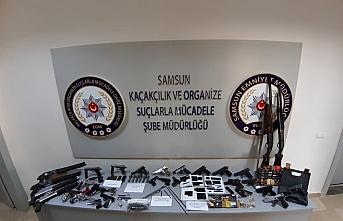 Samsun'da silah kaçakçılığı operasyonunda 24 kişi yakalandı